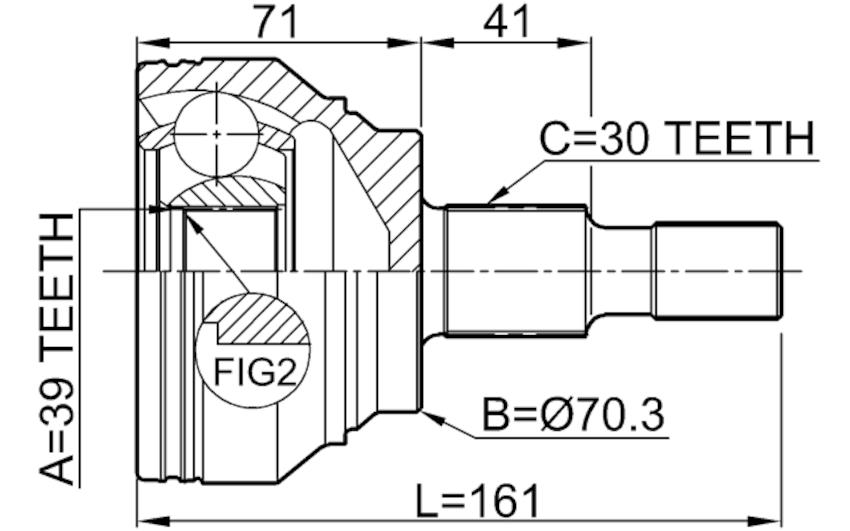 1610-164 OUTER CV JOINT MERCEDES BENZ ML-CLASS 164 2004