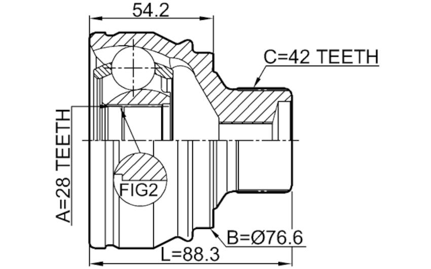 Fits Audi A4 Avant (8K5) 2008-2015 Outer Cv Joint OEM