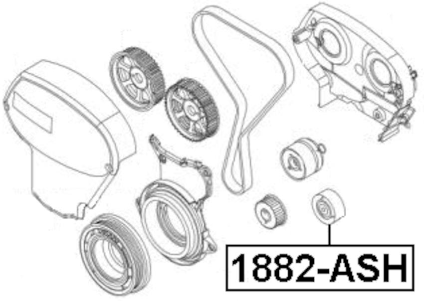 Pulley Idler Timing Belt Kit Febest 1887-ASH Oem 24436052