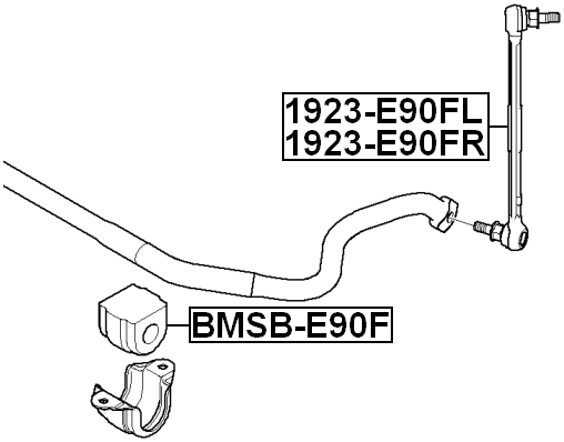 Front Right Stabilizer Link / Sway Bar Link FEBEST 1923