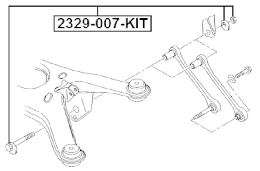 Repair Kit, Camber Adjusting Eccentric Bolt Febest 2329