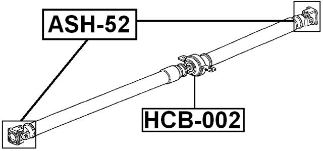 Propeller Drive Shaft Universal Joint Ujoint 20X52 FEBEST