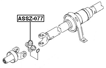 Universal Joint Front Febest ASSZ-077 fits 04-08 Suzuki