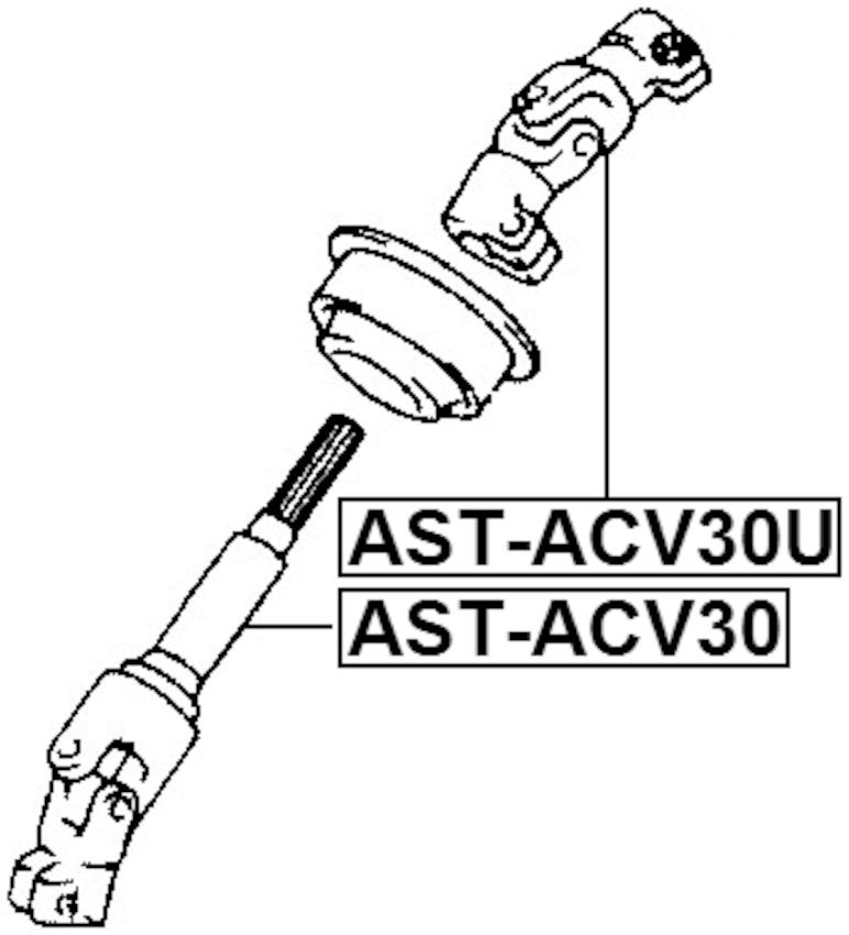 Steering Column Joint Assembly Upper FEBEST AST-ACV30U OEM