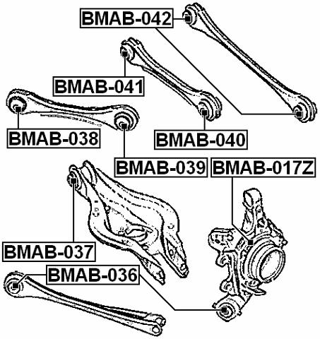 ARM BUSHING FOR REAR TRACK CONTROL ROD BMW 3 F30 2011