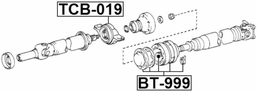 Drive Shaft Boot Febest BT-999 fits 89-90 Toyota Corolla