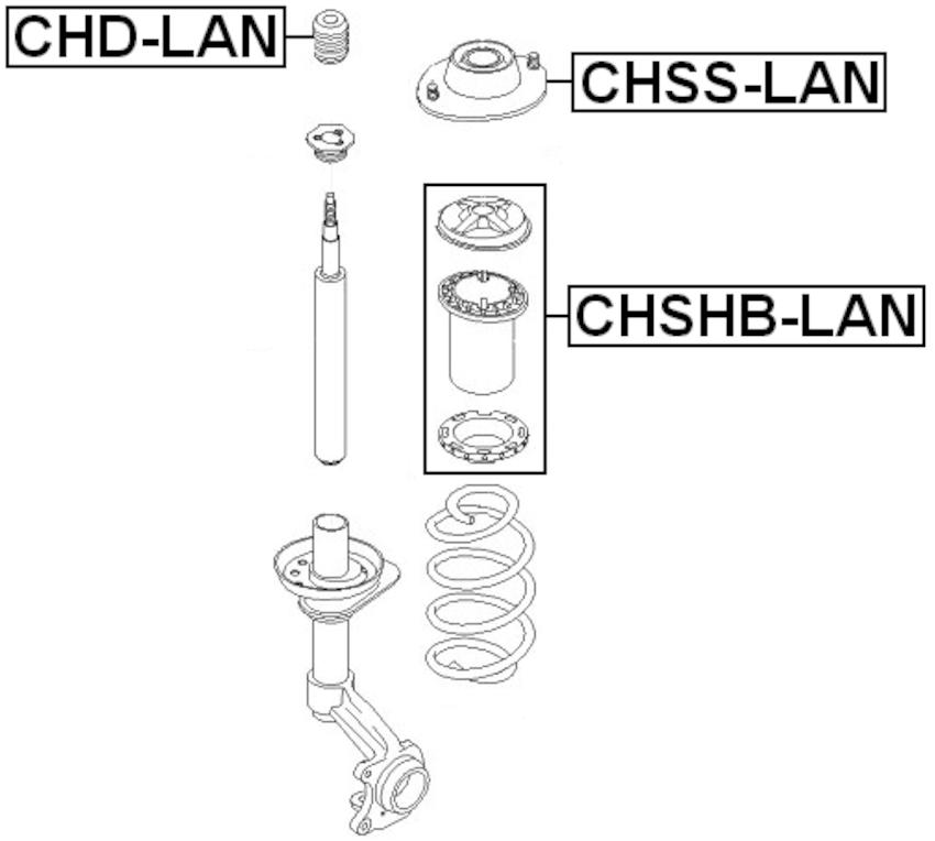CHEVROLET LANOS (T100) 1997-2002 FRONT Shock Absorber