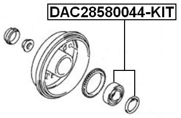 Rear Wheel Bearing Repair Kit 28X58X44 Febest DAC28580044