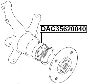 Front Wheel Bearing 35X61.8X40 Febest DAC35620040 Oem