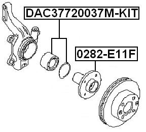 Front Wheel Bearing Repair Kit 37X72X37 Febest