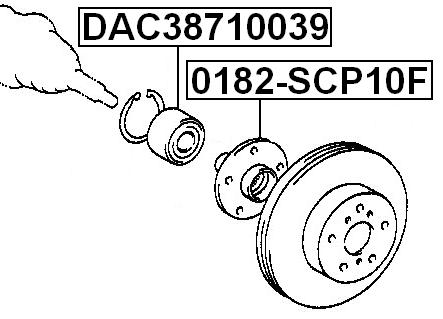 Front Wheel Bearing 38X71X39 Febest DAC38710039 Oem 90369