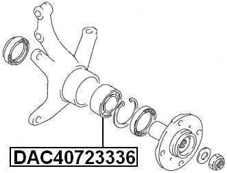 Front Wheel Bearing 40X72X33X36 FEBEST DAC40723336 OEM