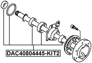 Rear Wheel Bearing Repair Kit 40X80X44X45 Febest