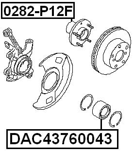 Front Wheel Bearing 43X76X43 FEBEST DAC43760043 OEM 40210