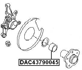Rear Wheel Bearing 43X79X45 FEBEST DAC43790045 OEM 43210