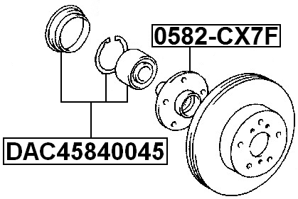 Front Wheel Bearing Repair Kit 45X84X45 For Toyota Alphard