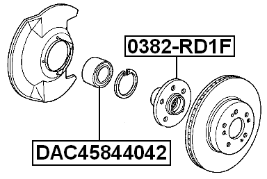Front Wheel Bearing 45X84X40X42 FEBEST DAC45844042 OEM