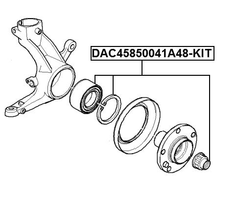 Front Wheel Bearing Repair Kit 45X85X41 DAC45850041A48-KIT
