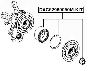 Rear Wheel Bearing Repair Kit 52X96X50 For Mercedes Benz