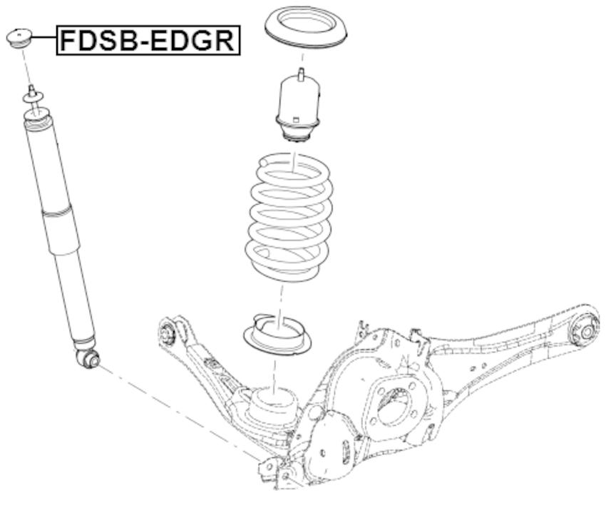 For FORD EDGE 2007-2014 Rear Shock Absorber Bushing D10.5
