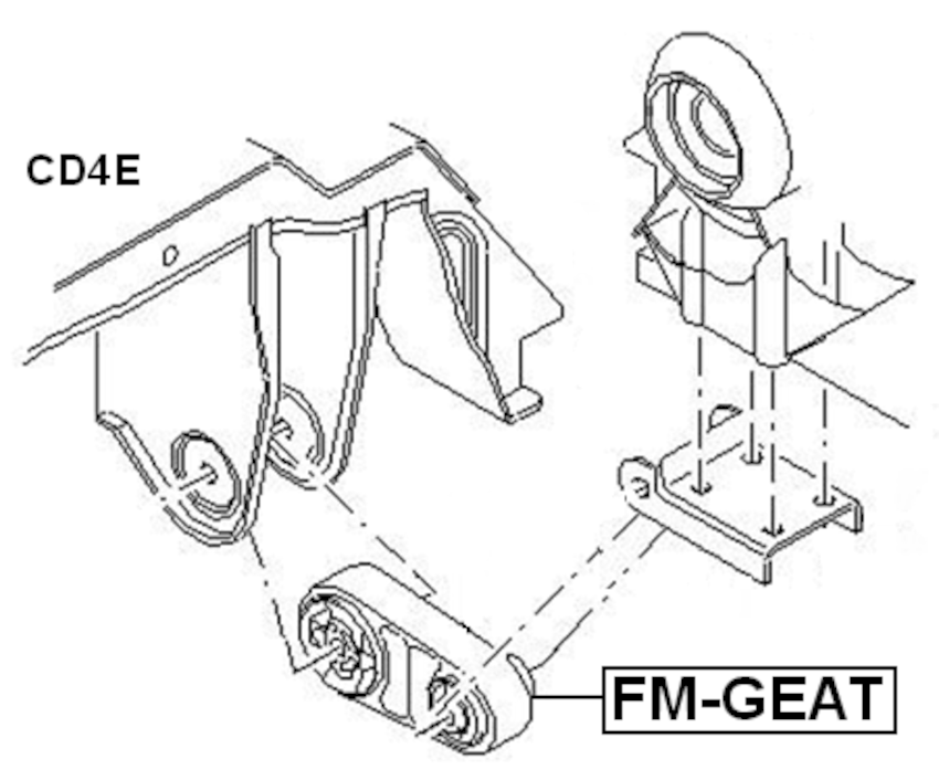 For FORD MONDEO GE 2000-2007 TRANSMISSION MOUNT AT OEM