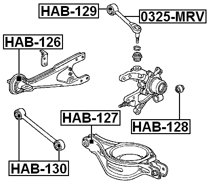 Arm Bushing For Rear Arm FEBEST HAB-130 OEM 52345-S0X-A01