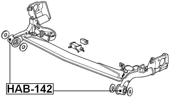 ARM-BUSHING-REAR-SUSPENSION-For-Honda-JAZZ-FIT-2002-2008