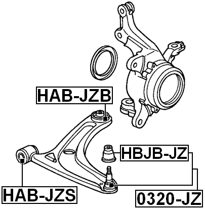 Suspension Control Arm Bushing Front Lower Rear Febest