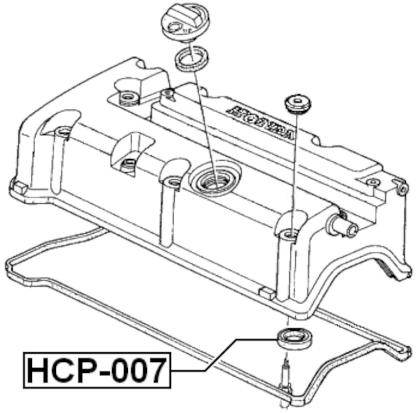 Cylinder Head Spark Plug Guide Febest HCP-007 Oem 12342