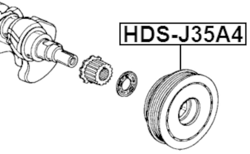 Crankshaft Pulley Engine Febest HDS-J35A4 OEM 13810-P8A