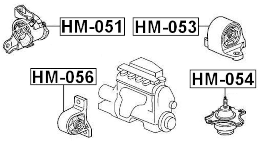 Front Engine Motor Mount At FEBEST HM-056 OEM 50840-S5A