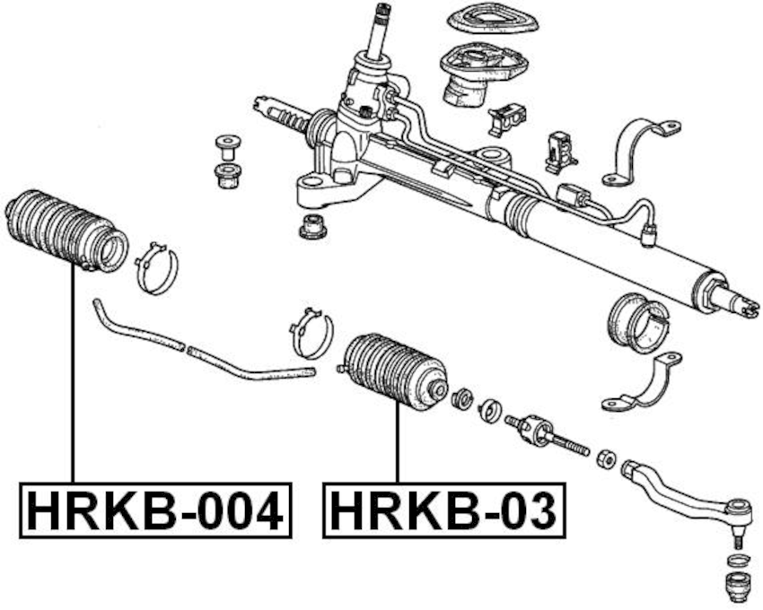 Rack and Pinion Bellow ( CD5 Automatic F22B2 ) For 1995