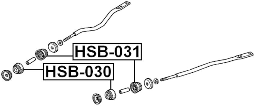 Front Radius Rod Bushing FEBEST HSB-030 OEM 51391-SX0-013