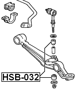 Suspension Stabilizer Bar Bushing ( B20A5 ) For 1989 Honda