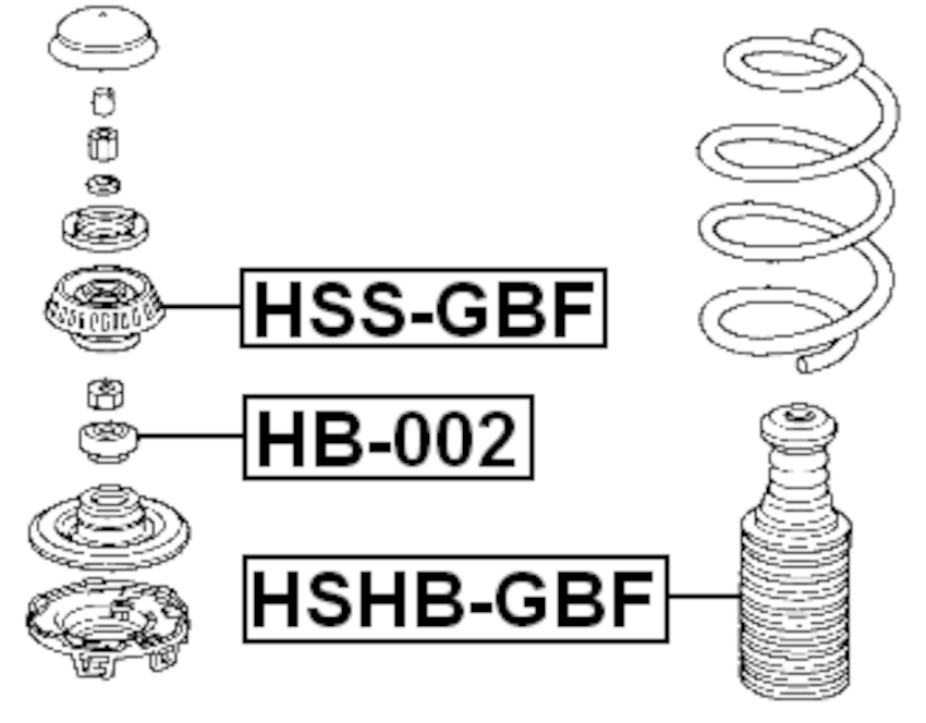 Front Strut Mount Shock Absorber Support FEBEST HSS-GBF