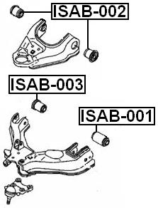 Arm Bushing Front Upper Arm For Isuzu D-Max I (8Dh) 2002
