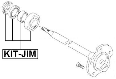 Ball Bearing Kit Rear Axle Shaft 35X72X22 Febest KIT-JIM