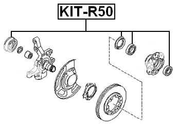 ROLLER BEARING KIT FRONT AXLE SHAFT For Nissan PATHFINDER