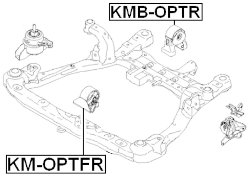 Front Engine Motor Mount FEBEST KM-OPTFR OEM 21910-2G100