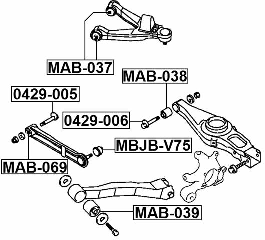 ARM BUSHING LATERAL CONTROL ARM For Mitsubishi MONTERO