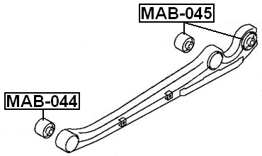 Arm Bushing For Lateral Control Arm Febest MAB-044 Oem