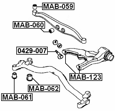 Arm Bushing For Track Control Arm Febest MAB-059 Oem