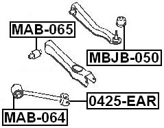 ARM BUSHING LATERAL CONTROL ARM For Mitsubishi GALANT 1992