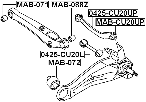 Arm Bushing Lateral Control Arm for Mitsubishi Lancer 2000