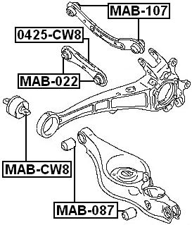 Lateral Arm Bushing For 2007 Mitsubishi Outlander (USA