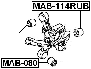 Arm Bushing Rear Assembly FEBEST MAB-114RUB OEM 4110A033