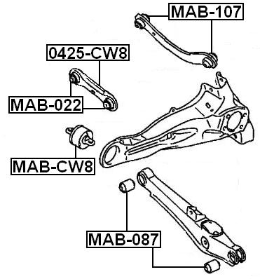 Suspension Trailing Arm Bushing For 2007 Mitsubishi