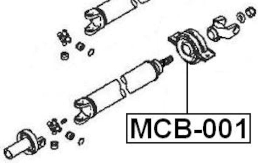 Center Bearing Support For Mitsubishi Pajero/Montero Sport