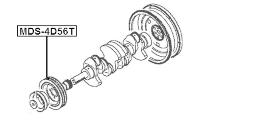 Crankshaft Pulley Engine Febest MDS-4D56 OEM MD374223