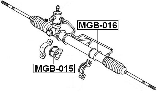 Grommet Steering Rack Housing FEBEST MGB-016 OEM 4410A233